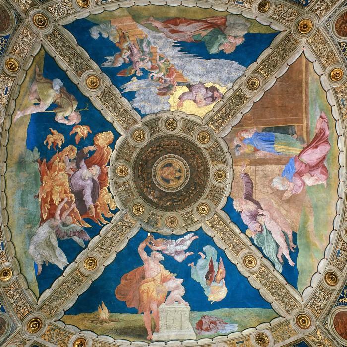 Stanza of Heliodorus: Ceiling. Raffaello Sanzio da Urbino) Raphael (Raffaello Santi