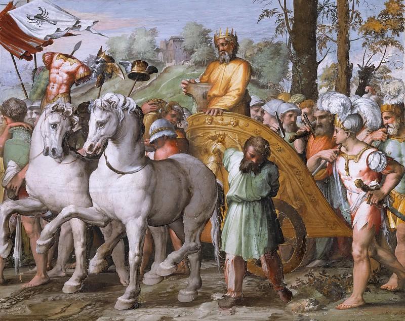 David´s Victory Over the Ammonites. Raffaello Sanzio da Urbino) Raphael (Raffaello Santi