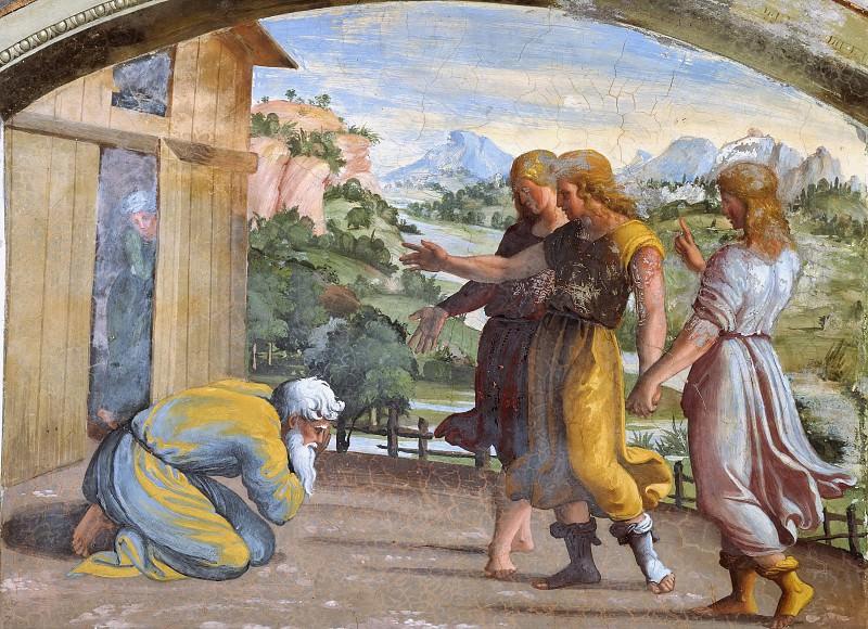 Angels Appears to Abraham. Raffaello Sanzio da Urbino) Raphael (Raffaello Santi