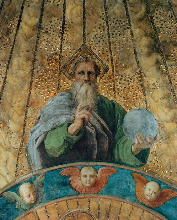 Станца делла Сеньятура: Диспут (фрагмент - Бог-Отец). Рафаэль Санти