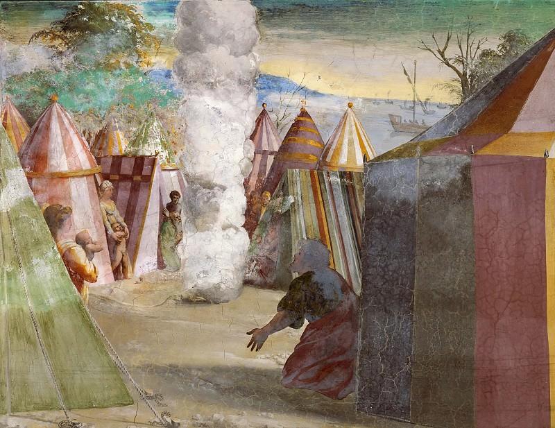 God Speaks to Moses from a Pillar of Cloud. Raffaello Sanzio da Urbino) Raphael (Raffaello Santi