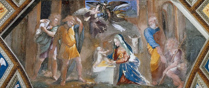 Adoration of the Shepherds. Raffaello Sanzio da Urbino) Raphael (Raffaello Santi