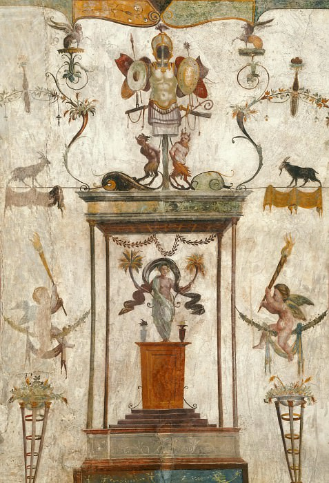 Fresco in Loggetta of Cardinal Bibbiena. Raffaello Sanzio da Urbino) Raphael (Raffaello Santi