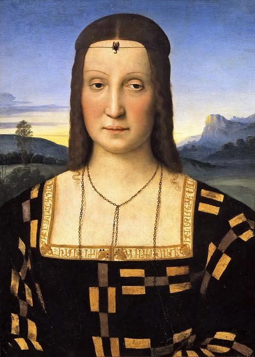 Portrait of Elisabetta Gonzaga (attr.). Raffaello Sanzio da Urbino) Raphael (Raffaello Santi