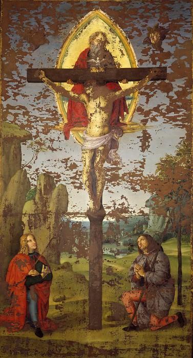 Holy Trinity with Saints Sebastian and Roch. Raffaello Sanzio da Urbino) Raphael (Raffaello Santi