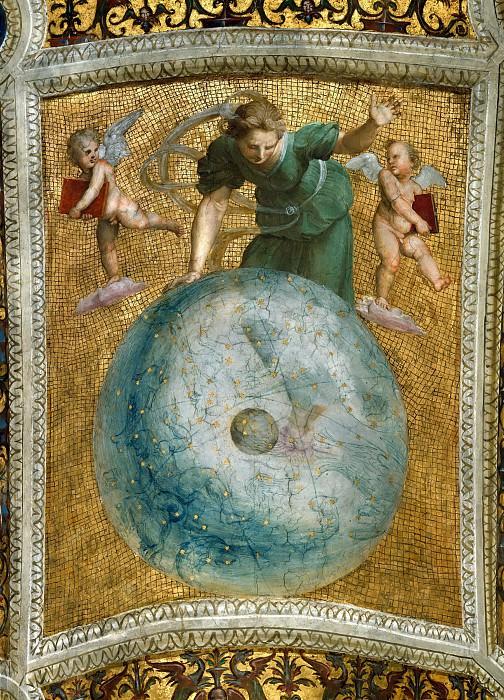 Станца делла Сеньятура: Роспись потолка (фрагмент) - Астрономия. Рафаэль Санти