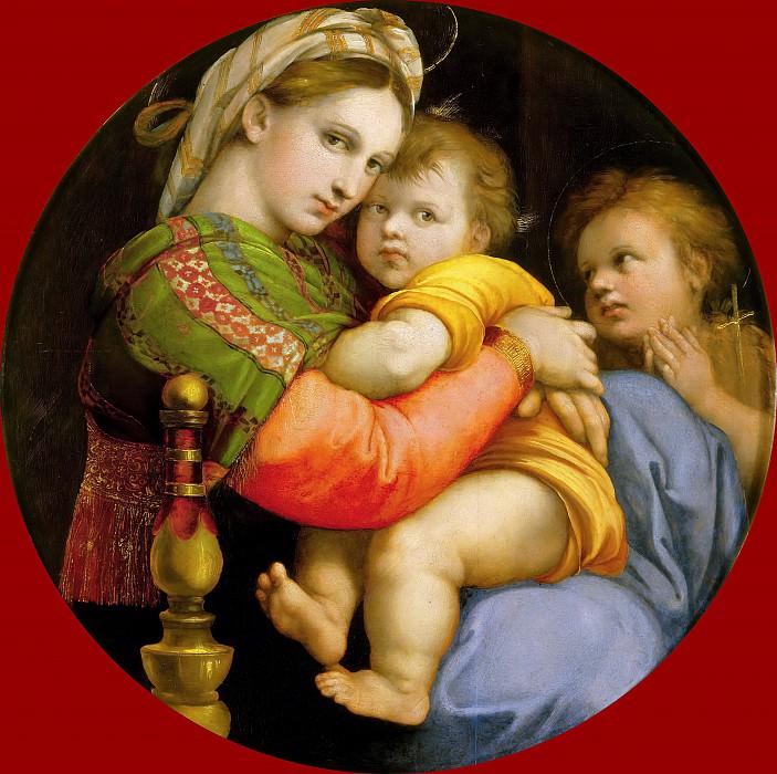 Madonna with the Child and Young St. John. Raffaello Sanzio da Urbino) Raphael (Raffaello Santi