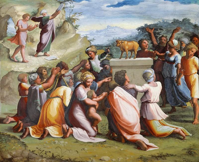 Поклонение золотому тельцу. Рафаэль Санти