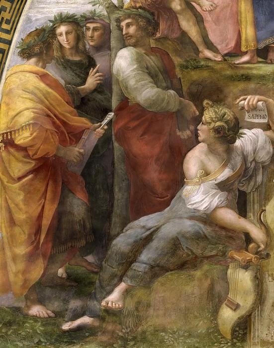 Stanza della Segnatura: The Parnassus (fragment). Raffaello Sanzio da Urbino) Raphael (Raffaello Santi
