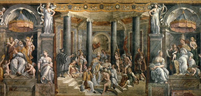 Room of Constantine: The Baptism of Constantine (Gianfrancesco Penni). Raffaello Sanzio da Urbino) Raphael (Raffaello Santi