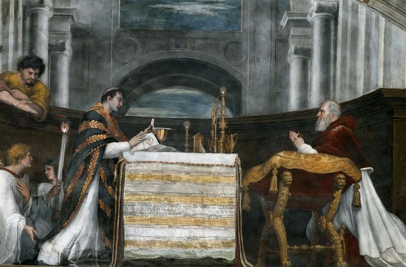 Станца Илиодора: Месса в Больсене (фрагмент). Рафаэль Санти