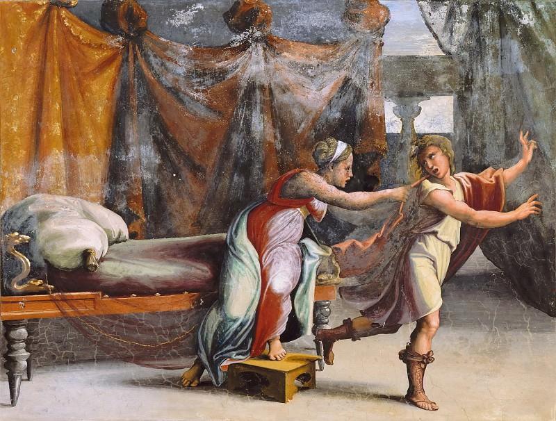 Joseph and Potiphar. Raffaello Sanzio da Urbino) Raphael (Raffaello Santi
