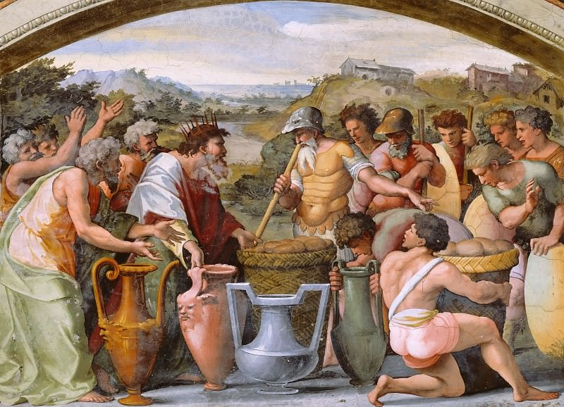 Abraham and Melchizedek. Raffaello Sanzio da Urbino) Raphael (Raffaello Santi