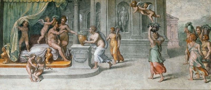 Offering of Gifts to Vertumnus and Pomona (workshop). Raffaello Sanzio da Urbino) Raphael (Raffaello Santi