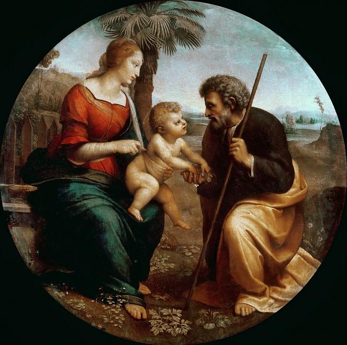 The Holy Family with the palm. Raffaello Sanzio da Urbino) Raphael (Raffaello Santi