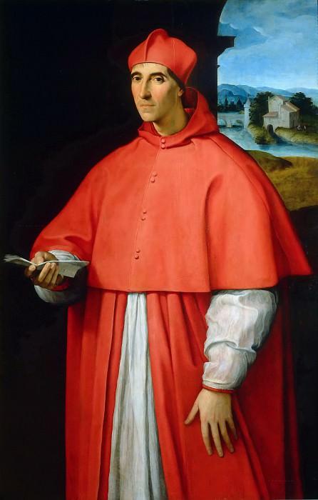 Portrait of Cardinal Alessandro Farnese. Raffaello Sanzio da Urbino) Raphael (Raffaello Santi