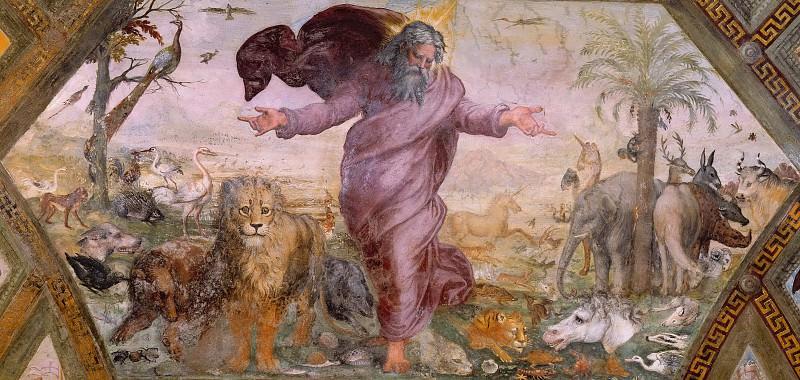 Creation of the Animals. Raffaello Sanzio da Urbino) Raphael (Raffaello Santi