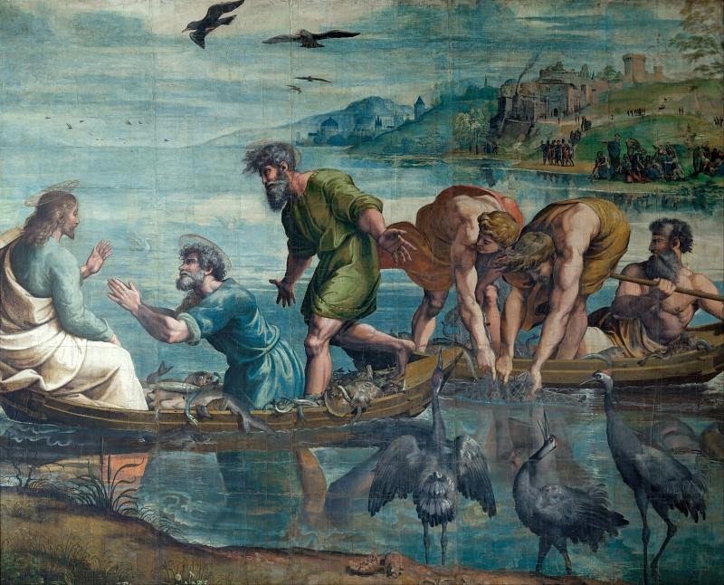 Miraculous Drought of Fishes. Raffaello Sanzio da Urbino) Raphael (Raffaello Santi