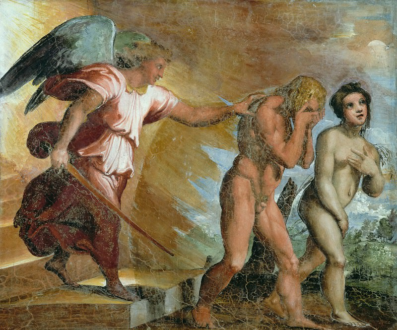 Expulsion from Paradise. Raffaello Sanzio da Urbino) Raphael (Raffaello Santi