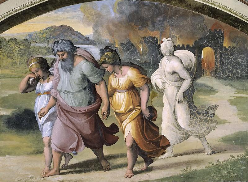 Бегство семейства Лота из Содома. Рафаэль Санти