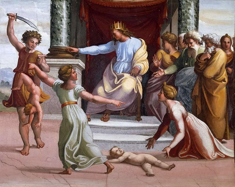 Judgment of Solomon. Raffaello Sanzio da Urbino) Raphael (Raffaello Santi
