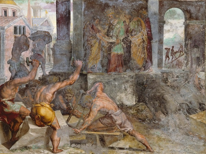 Строительство храма Соломона. Рафаэль Санти