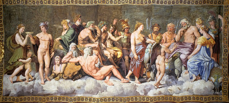 The Council of the Gods. Raffaello Sanzio da Urbino) Raphael (Raffaello Santi