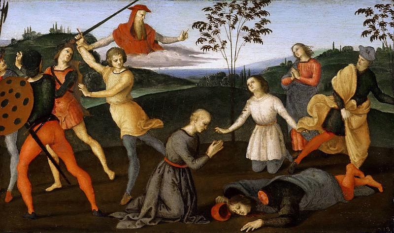 Saint Jerome saving Silvanus and punishing the Heretic Sabinianus. Raffaello Sanzio da Urbino) Raphael (Raffaello Santi