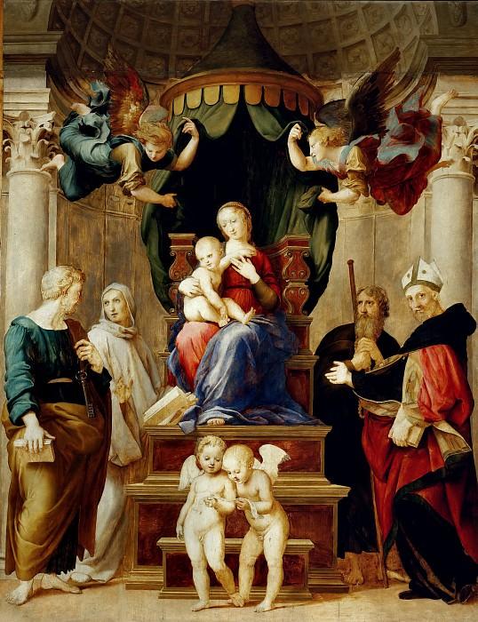 Madonna del Baldacchino. Raffaello Sanzio da Urbino) Raphael (Raffaello Santi