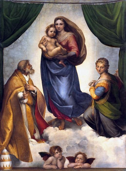 The Sistine Madonna. Raffaello Sanzio da Urbino) Raphael (Raffaello Santi