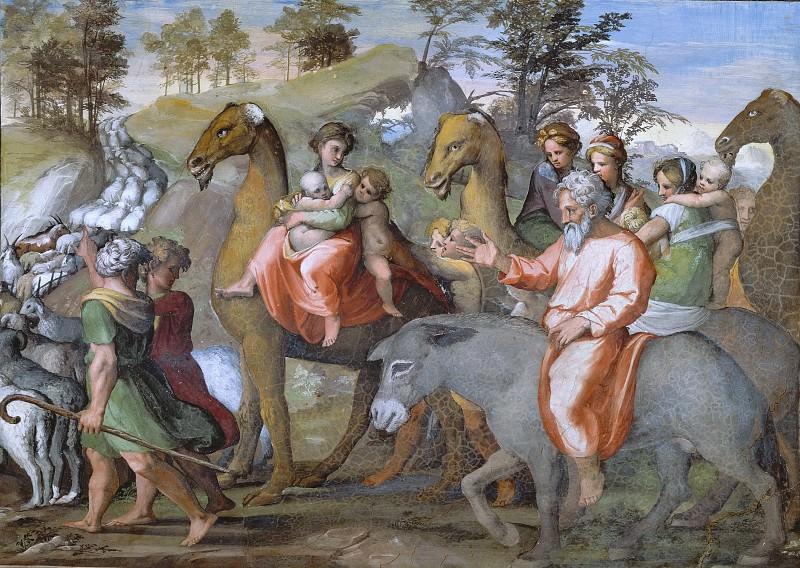 Jacob Returns to Canaan. Raffaello Sanzio da Urbino) Raphael (Raffaello Santi