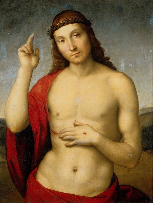 Christ Blessing. Raffaello Sanzio da Urbino) Raphael (Raffaello Santi