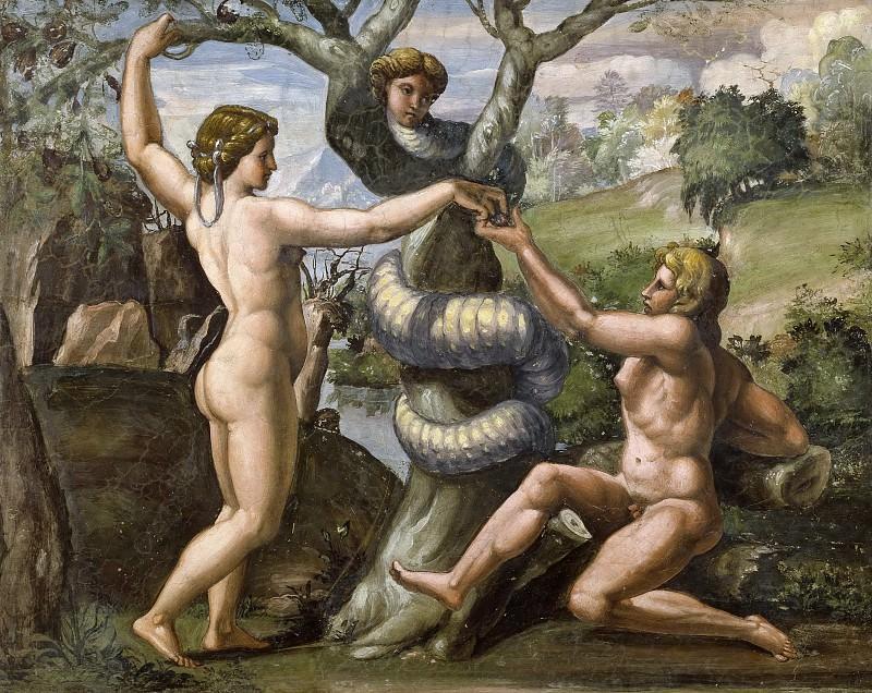 The Fall. Raffaello Sanzio da Urbino) Raphael (Raffaello Santi