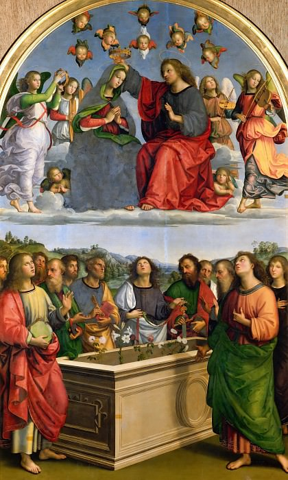 Oddi altarpiece - Coronation of the Virgin. Raffaello Sanzio da Urbino) Raphael (Raffaello Santi
