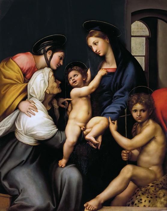 Мадонна с завесой (Святое собеседование). Рафаэль Санти