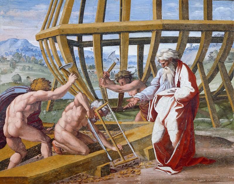 Building of the Ark. Raffaello Sanzio da Urbino) Raphael (Raffaello Santi