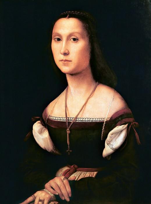 Portrait of a Young Woman (La Muta). Raffaello Sanzio da Urbino) Raphael (Raffaello Santi