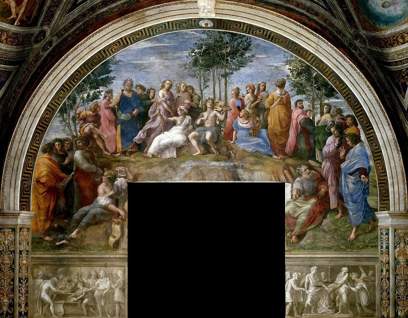 Stanza della Segnatura: The Parnassus. Raffaello Sanzio da Urbino) Raphael (Raffaello Santi