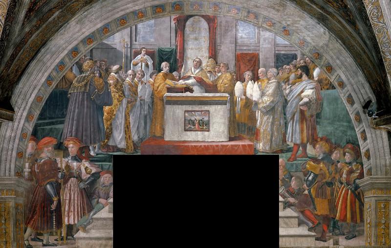 Станца Пожар в Борго: Клятва папы Льва III. Рафаэль Санти