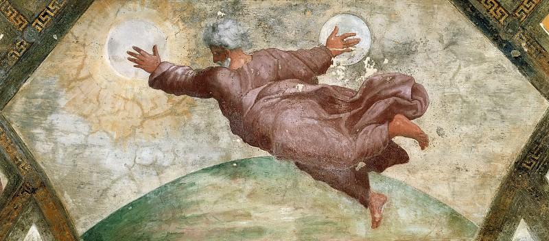 Creation of the Sun and the Moon. Raffaello Sanzio da Urbino) Raphael (Raffaello Santi