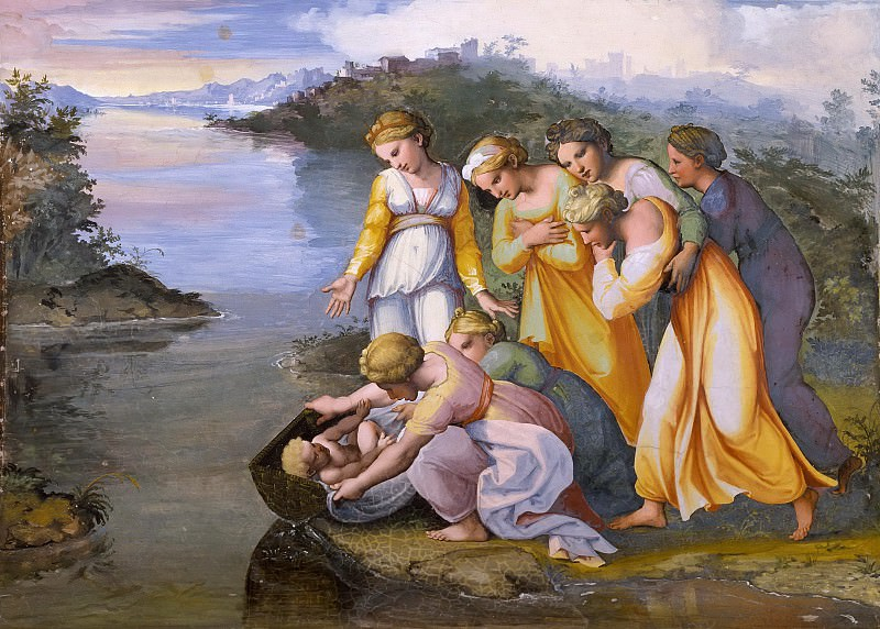 Moses Saved from the Waters. Raffaello Sanzio da Urbino) Raphael (Raffaello Santi