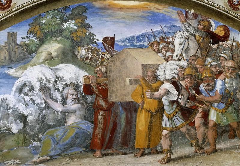 Passage of Jordan. Raffaello Sanzio da Urbino) Raphael (Raffaello Santi