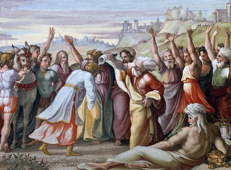 Zadok Anoints Solomon. Raffaello Sanzio da Urbino) Raphael (Raffaello Santi
