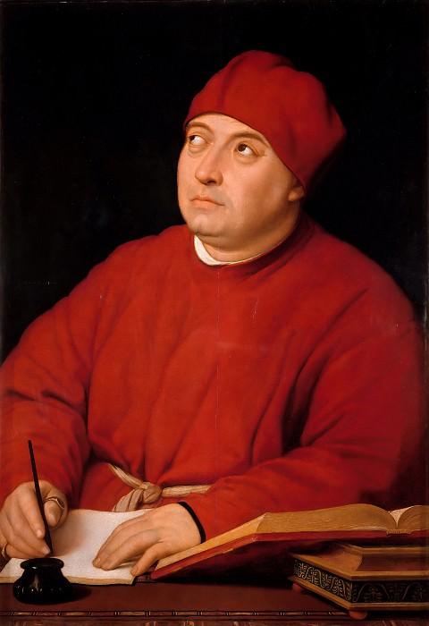 Portrait of Tommaso Inghirami. Raffaello Sanzio da Urbino) Raphael (Raffaello Santi