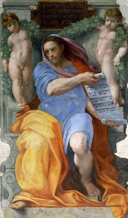 Prophet Isaiah. Raffaello Sanzio da Urbino) Raphael (Raffaello Santi
