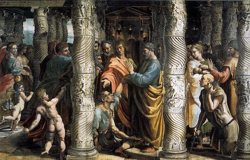 Healing of the Lame Man. Raffaello Sanzio da Urbino) Raphael (Raffaello Santi