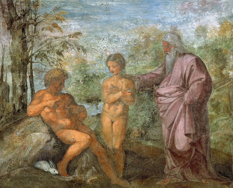 God Presents Eve to Adam. Raffaello Sanzio da Urbino) Raphael (Raffaello Santi