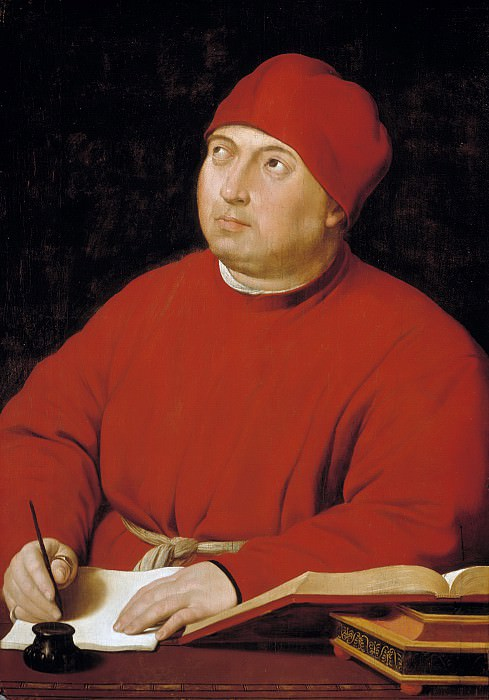 Portrait of Tommaso Inghirami (and workshop). Raffaello Sanzio da Urbino) Raphael (Raffaello Santi