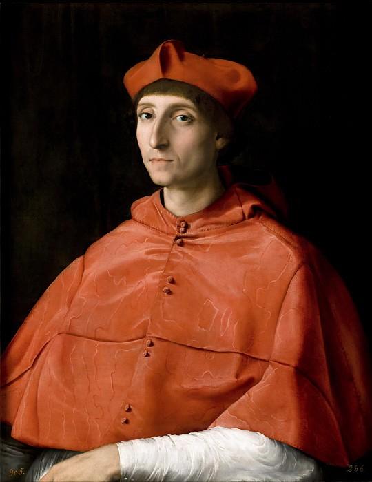 The Cardinal. Raffaello Sanzio da Urbino) Raphael (Raffaello Santi