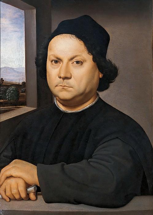 Портрет Пьетро Перуджино (приписывается). Рафаэль Санти